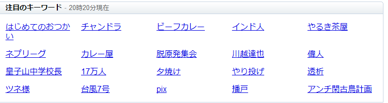 Yahoo!のrealtime検索